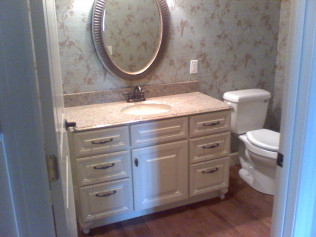 Raised Panel Vanity French Legs